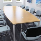 Wooden table meeting room