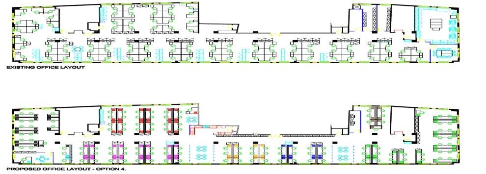 office interior design creative workplace design space audit 3d