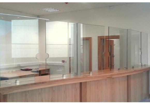 Screenplus Frameless Glass Security Screen Counter Top