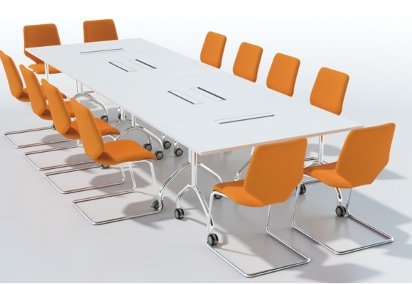 Sven Christiansen Modular Office Tables Modular Fliptop Table - Sectional conference table